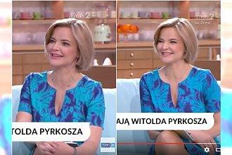 Wesoła Zamachowska rozmawia o zmarłym Pyrkoszu. Widzowie oburzeni: