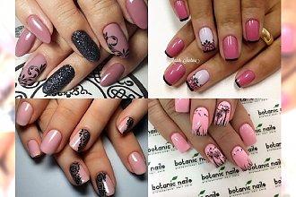 Pink & black- uwielbiamy połączenie tych kolorów na paznokciach! Inspiracje