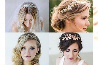 Diademy, korony, tiary i inne ozdoby włosów dla panien młodych - GALERIA INSPIRACJI