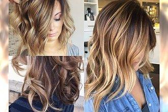 Caramel highlights - stylowa odmiana dla brunetek i blondynek. Garść inspiracji