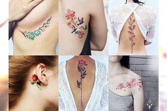 Piękne tatuaże w kolorze inspirowane naturą. Subtelne i mega kobiece!
