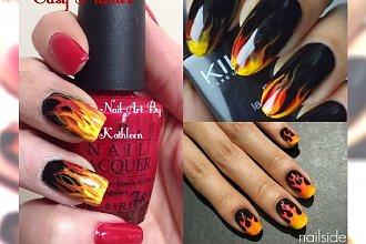 Płomienny manicure rozpali go do czerwoności ;) 20 ognistych propozycji