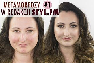 Metamorfozy w redakcji styl.fm: Zobaczcie rewelacyjną przemianę Basi! Zdjęcie bez makijażu, we własnym makijażu i po metamorfozie
