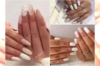 Manicure biały, perłowy, nude - 20 najpiękniejszych wzorów na specjalne okazje