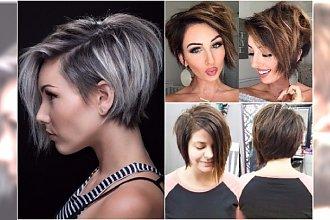 Włosy za ucho - modne fryzury asymetryczne, pixie bob, z wygolonym bokiem