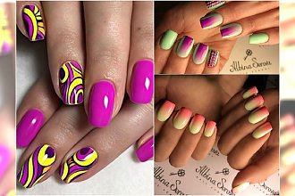 Kolorowe hybrydy na lato - 20 wzorów, które trzeba wypróbować!