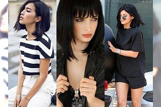 Seksowna czerń w krótkiej wersji - klasyczne boby dla kobiet, która chcą wyglądać młodziej