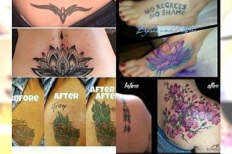 Tatuażowe wpadki uratowane, ci ludzie mogą odetchnąć z ulgą. Galeria przed i po