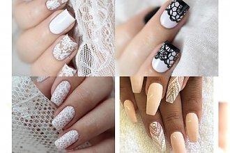 Manicure z motywem koronki - opcja idealna dla panny młodej lub romantyczki