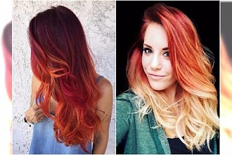 Ogniste ombre i sunset hair - dwie niezwykłe koloryzacje na lato