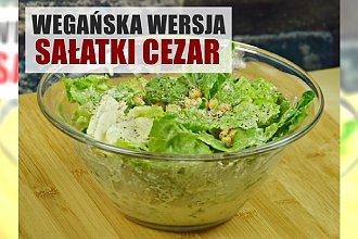 Wegańska wersja sałatki cezar