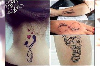 Tatuaż dla mamy - wzory z imionami dzieci, symbolem nieskończoności, motywem heartbeat