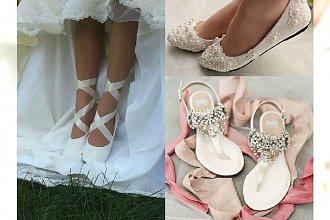 Do ślubu bez wysokiego obcasa? Zobaczcie BAJECZNE propozycje na buty ślubne na płaskim obcasie!