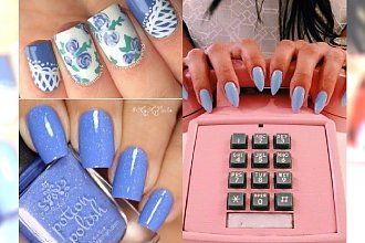 Manicure na lato 2017: Cornflower nails czyli paznokcie w kolorze chabru! Zobacz najlepsze propozycje nowego błękitu