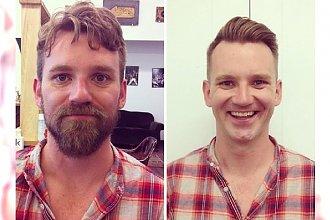 Po wielu latach postanowili zgolić brodę i przejść metamorfozę! Na pewno nie było to dla nich łatwe, ale EFEKT jest SPEKTAKULARNY! To jak się zmienili zwala z nóg!