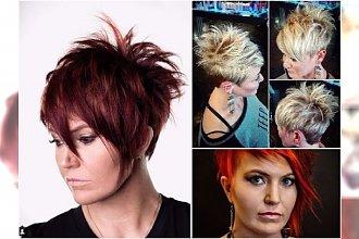 Krótkie fryzury dla dojrzałych kobiet - asymetryczne, z grzywką, mocno wycieniowane