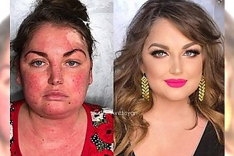 """Patrzymy i... NIE WIERZYMY! Oto 16 kobiet """"przed"""" i """"po"""" wykonaniu makijażu. Tak, to NAPRAWDĘ TE SAME OSOBY!"""