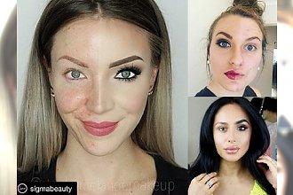 Oto 10 naprawdę odważnych kobiet! Pokazały, jak wyglądają naturalnie i w pełnym makijażu... Która z nich może żałować zaprezentowania się światu w połowicznie wykonanym makijażu?