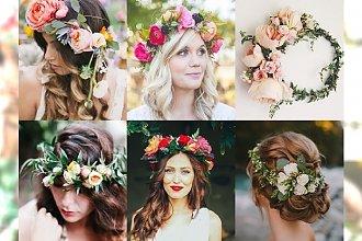Wianki ze świeżych kwiatów na wieczór panieński, ślub i wesele - najpiękniejsze kompozycje