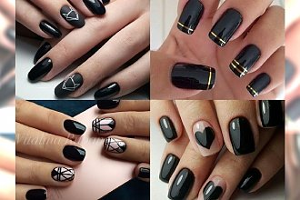 BACK TO BLACK - śliczne inspiracje na manicure, dla dziewczyn, które tęsknią za klasyczną czernią