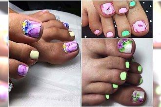 Letni pedicure - urocze wzory na paznokcie u nóg. Aż 30 fantastycznych pomysłów!