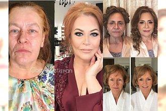 Dojrzałe i starsze kobiety młodsze o kilkanaście lat dzięki odpowiedniemu makijażowi! Niesamowite metamorfozy