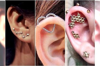 Oryginalny piercing ucha. Fanki kolczyków podpowiadają, jak niebanalnie przekłuć uszy