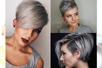 Charakterne fryzurki pixie w odcieniach szarości - mega trend, za którym przepadamy! GALERIA