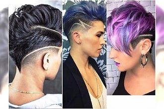 Krótkie fryzury z wzorkami - supermodne cięcia dla przebojowych dziewczyn