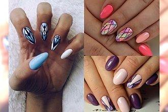 Stylowy manicure z geometrycznymi wzorami - te inspiracje totalnie Cię oczarują!