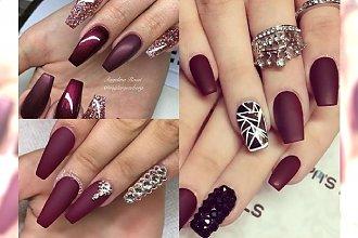 Burgudnowy manicure - cudowny kolor, który musisz mieć na pazurkach tej jesieni! INSPIRACJE