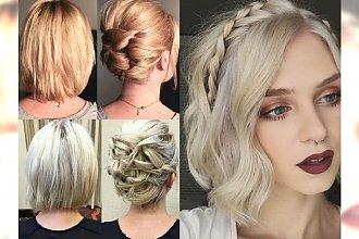 Śliczne, stylowe upięcia dla włosów do ramion i krótszych - galeria