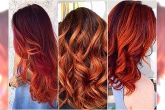 Rudy color melting, czyli włosy w ogniu! Oto najpiękniejsza koloryzacja na jesień dla wielbicielek ognistych rudości