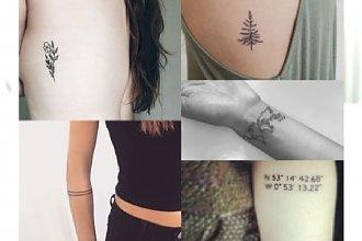 Minimalistyczne tatuaże - klasyczne i pełne wdzięku. Najpiękniejsze motywy