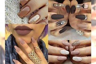 Najpiękniejszy manicure w odcieniach toffi, karmelu i czekolady