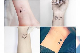 Maleńkie i urocze tatuaże na nadgarstek