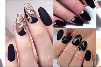 Czarne paznokcie - eleganckie i wyrafinowane wzory, którym się nie oprzecie!