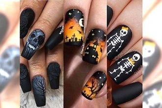 Manicure na Halloween 2017: Czaszki, pająki, nietoperze, trupie czaszki i kościotrupy. Zobacz galerię!