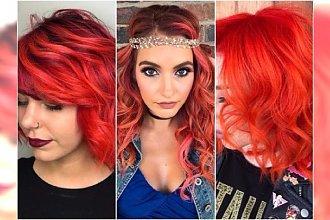 Przełam jesienną szarość! Wypróbuj odważne kolory włosów: soczyste czerwienie, róże i pomarańcze