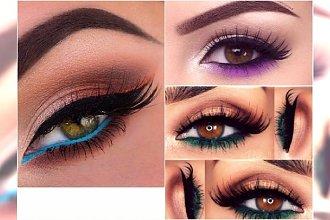 Makijaż oczu z kolorowymi akcentami. Jak ciekawie wykorzystać zieleń, błękit albo róż?