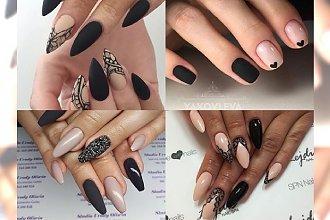 Nude & black - duet ZAWSZE zgodny z trendami. Klasyka, luz i elegancja. Galeria najpiękniejszych stylizacji paznokci!