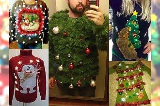 16 najdziwniejszych świątecznych wdzianek - takich sweterków jeszcze nie widzieliście