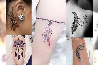 Tatuaże z piórkiem - 18 modnych wzorów dla dziewczyn
