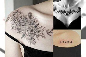 Tatuaż na obojczyk - kobiece, zmysłowe wzory, od których ciężko oderwać wzrok