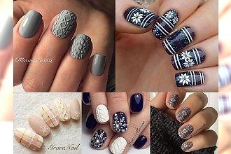 Sweterkowy manicure - śliczne propozycje na Boże Narodzenie