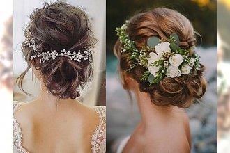 Uczesania ślubne 2018: katalog fryzur dla panny młodej