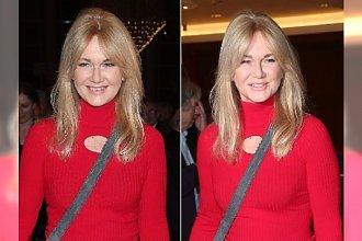 Grażyna Torbicka cała w czerwieni, ale spójrzcie w dół! WOW! Wygląda na 58 lat?