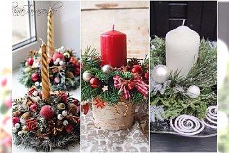 Stroiki ze świecą na Boże Narodzenie - małe, urocze kompozycje, które zrobisz sama