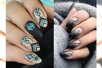 Geometryczny manicure - galeria wzorków, które robią wrażenie