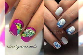 Manicure z motywem ptaków - 20 pomysłów na modne zdobienie paznokci